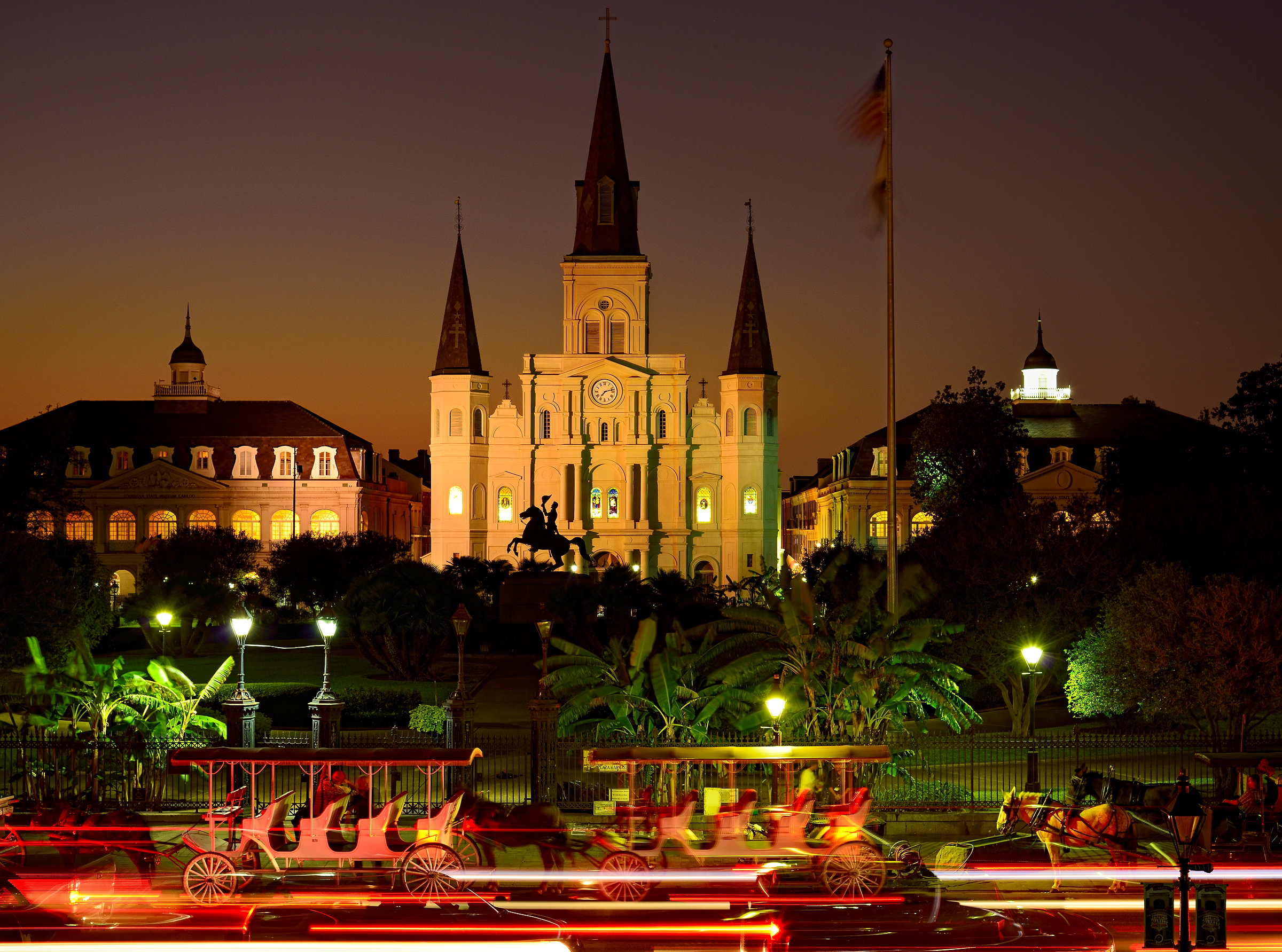 St Louis Cathedral And Jackson Square New Orleans